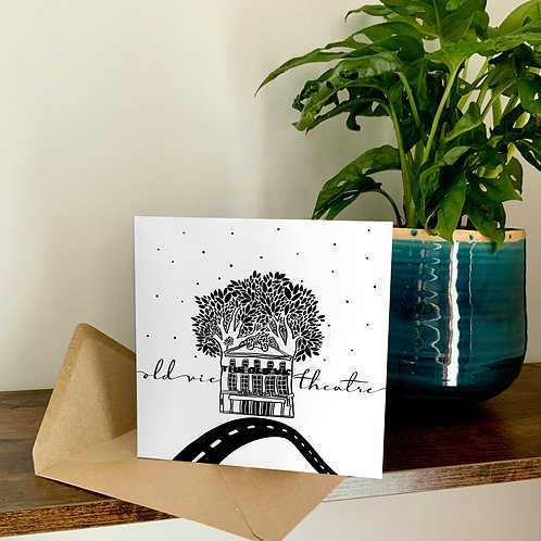 Old Vic Theatre Abstract Architecture Treetop Card