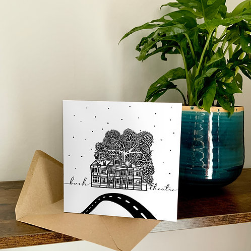 The Bush Theatre Abstract Architecture Treetop Card