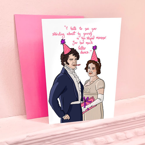 Lizzy and Mr Darcy from BBC's 'Pride & Prejudice' Birthday Card