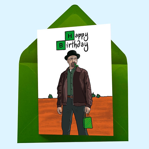 Walter White from Breaking Bad Birthday Card