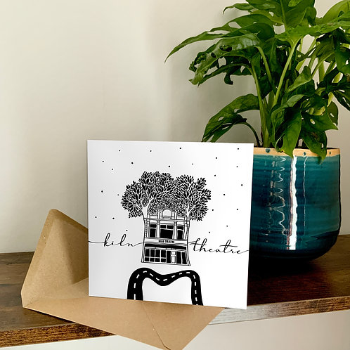 Kiln Theatre Abstract Architecture Treetop Card
