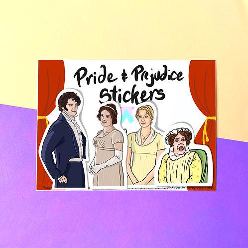 Pride and Prejudice Vinyl Stickers