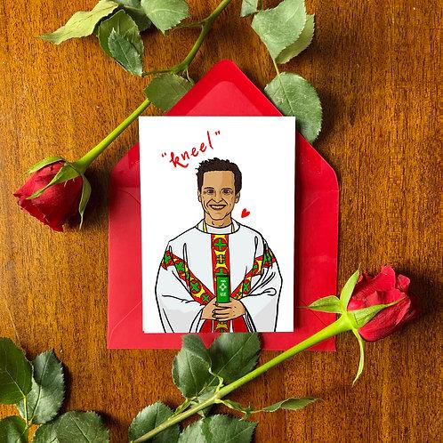 Fleabag's Hot Priest Valentine's Day Card
