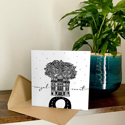 Royal Court Theatre Abstract Architecture Treetop Card