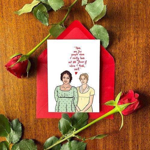 Jane and Elizabeth Bennet from 'Pride and Prejudice' BBC Card