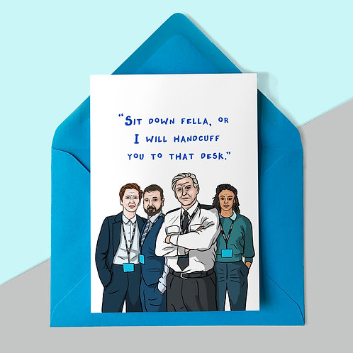 Line of Duty Father's Day Card
