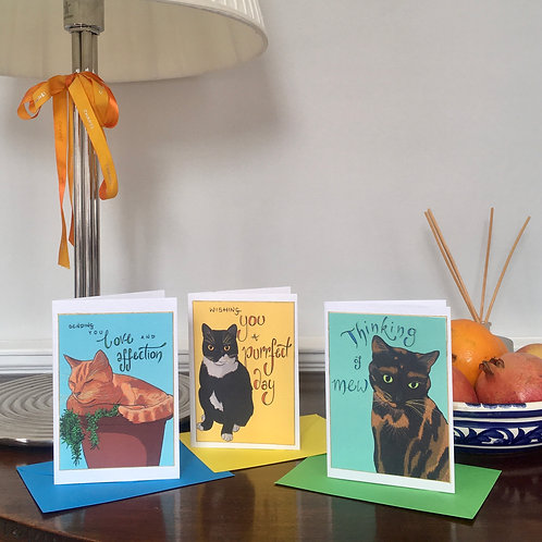 Cat Cards for all occasions