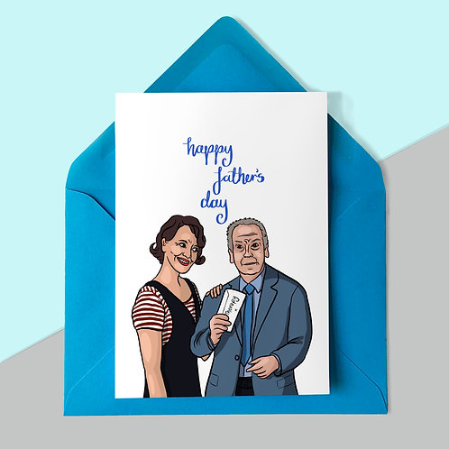 Fleabag and Dad Father's Day Card