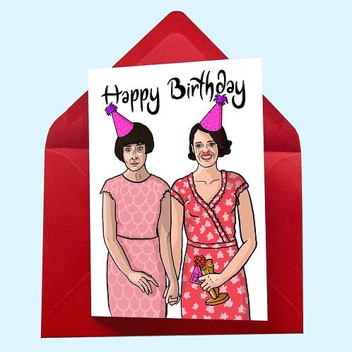 Fleabag & Claire Birthday / Congratulations Card