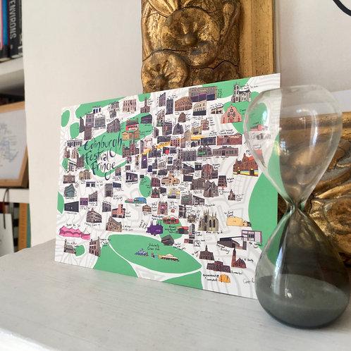 Map of Edinburgh Festival Fringe Postcard