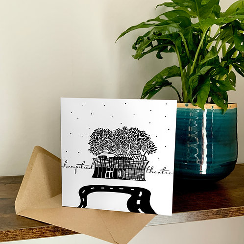 The Hampstead Theatre Abstract Architecture Treetop Card