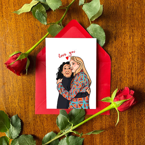 Eve and Villanelle Romantic Love Card