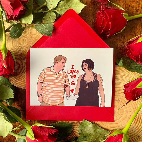 Nessa & Smithy from Gavin and Stacey Valentine's Card