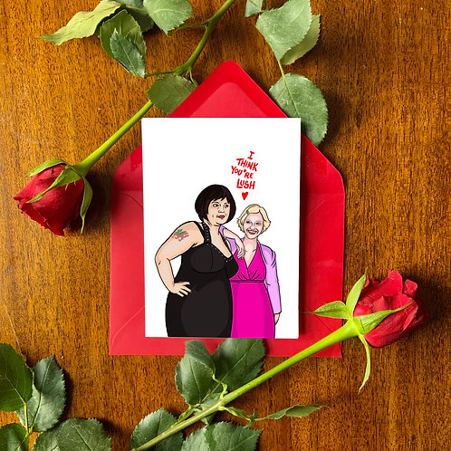 Nessa and Stacey Best Friends Love Card