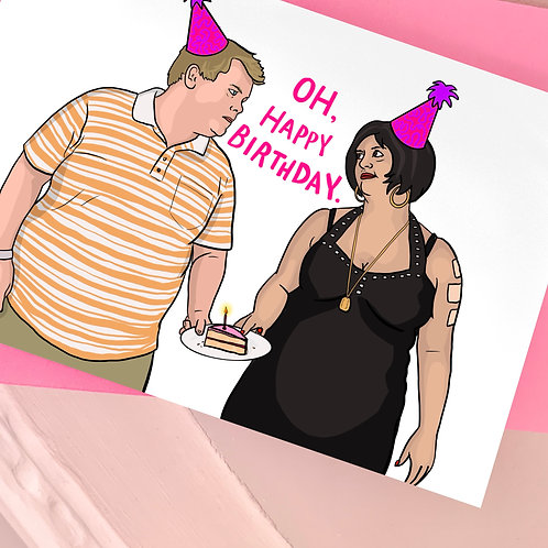 Nessa and Smithy from 'Gavin and Stacey' Birthday Card