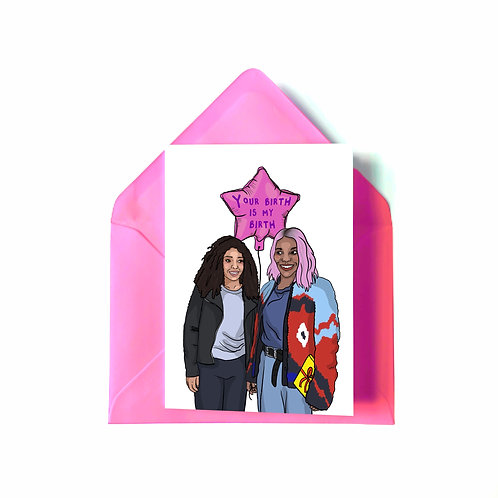 Arabella and Terry from 'I May Destroy You' Birthday Card