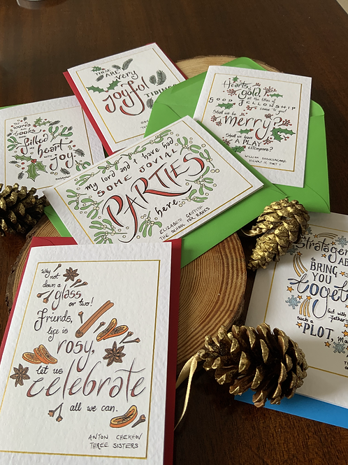 Festive Theatre Quote Christmas Cards