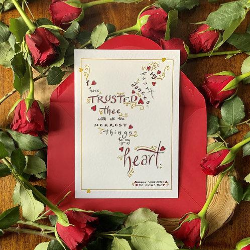 Bespoke Anniversary Romantic Card