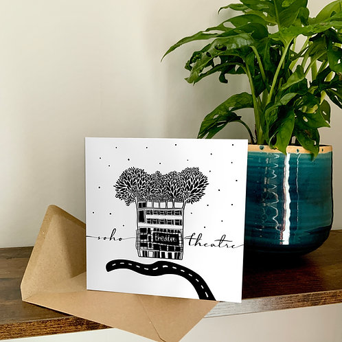 Soho Theatre Abstract Architecture Treetop Card