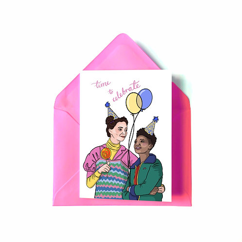 Ola and Lily from 'Sex Education' Birthday Card