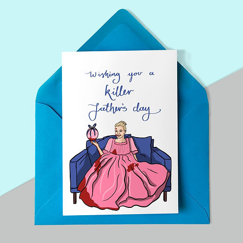 Villanelle from Killing Eve Father's Day Card