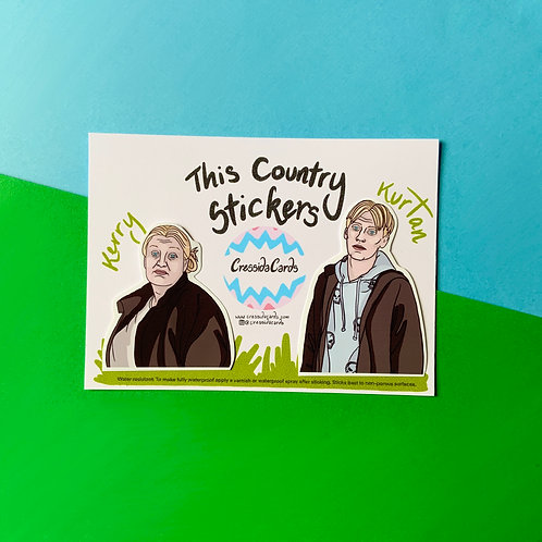 Kerry and Kurtan Mucklowe from 'This Country' Vinyl Stickers