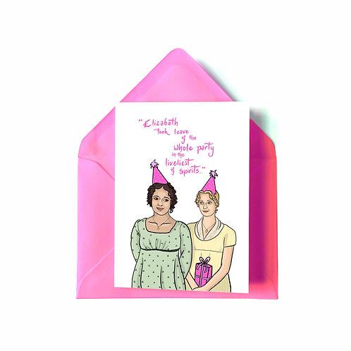 Lizzy and Jane from BBC's 'Pride & Prejudice' Birthday Card