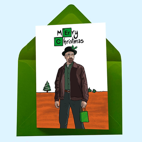 Walter White from Breaking Bad Christmas Card