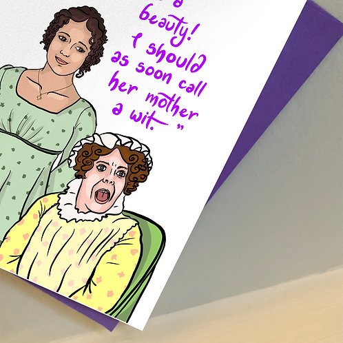 Elizabeth and Mrs Bennett from BBC's 'Pride and Prejudice' Mother's Day Card