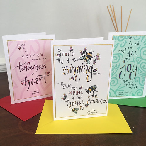 Literary Cards for all occasions