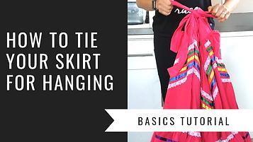 how to tie skirt for hanging basics tuto