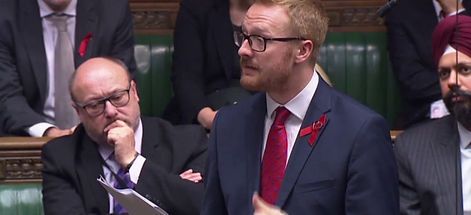 Lloyd Russell Moyle MP speaks in the Com