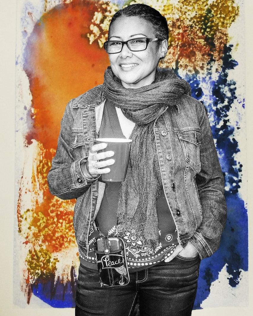 CottonTurner visual artist & fine art printmaker - photo by Howard Harawitz
