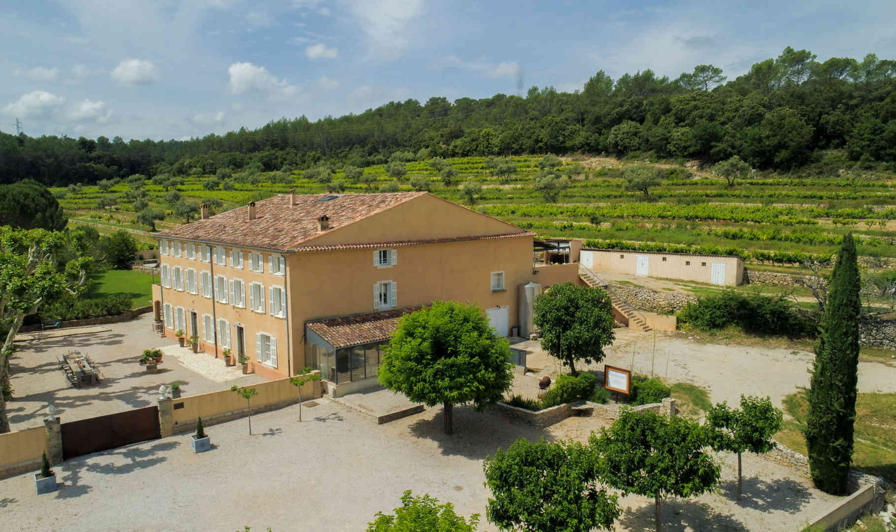 Camparnaud Provence Entrance drone - sma