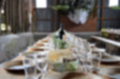 Country Style Wedding Table Set