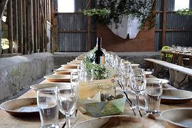 Country Style de mariage Set de table