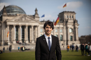 Ahmad, Afghan refugee doing an internship at the Bundestag for a minister.