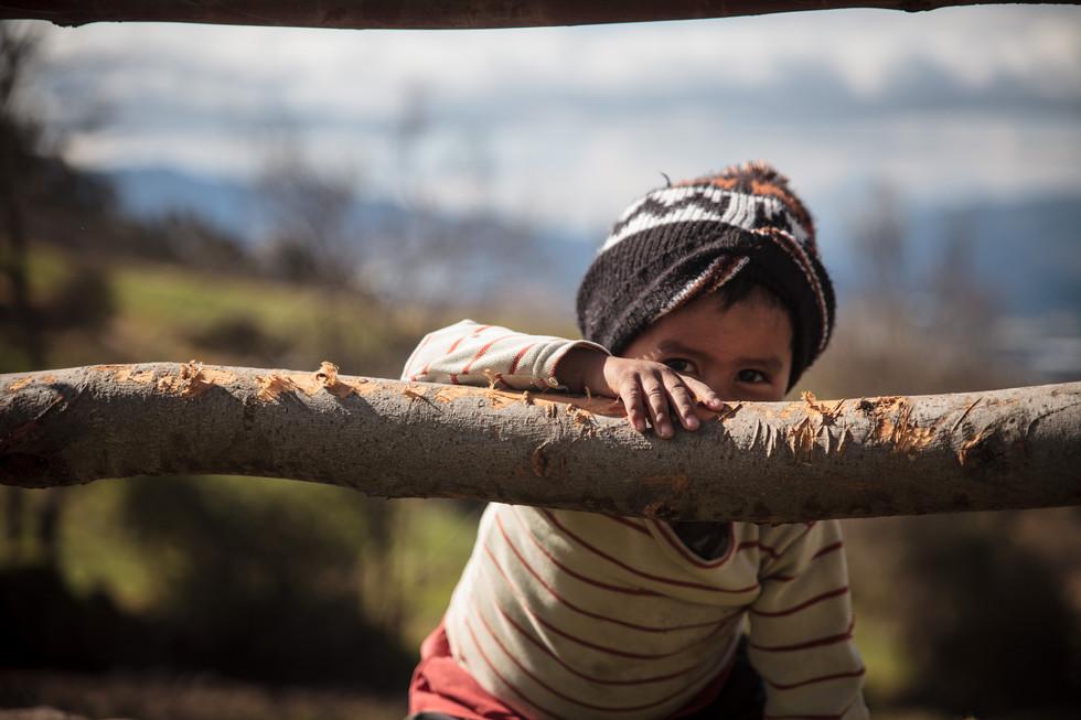 Farmer's kid in Cangahua - Ecuador