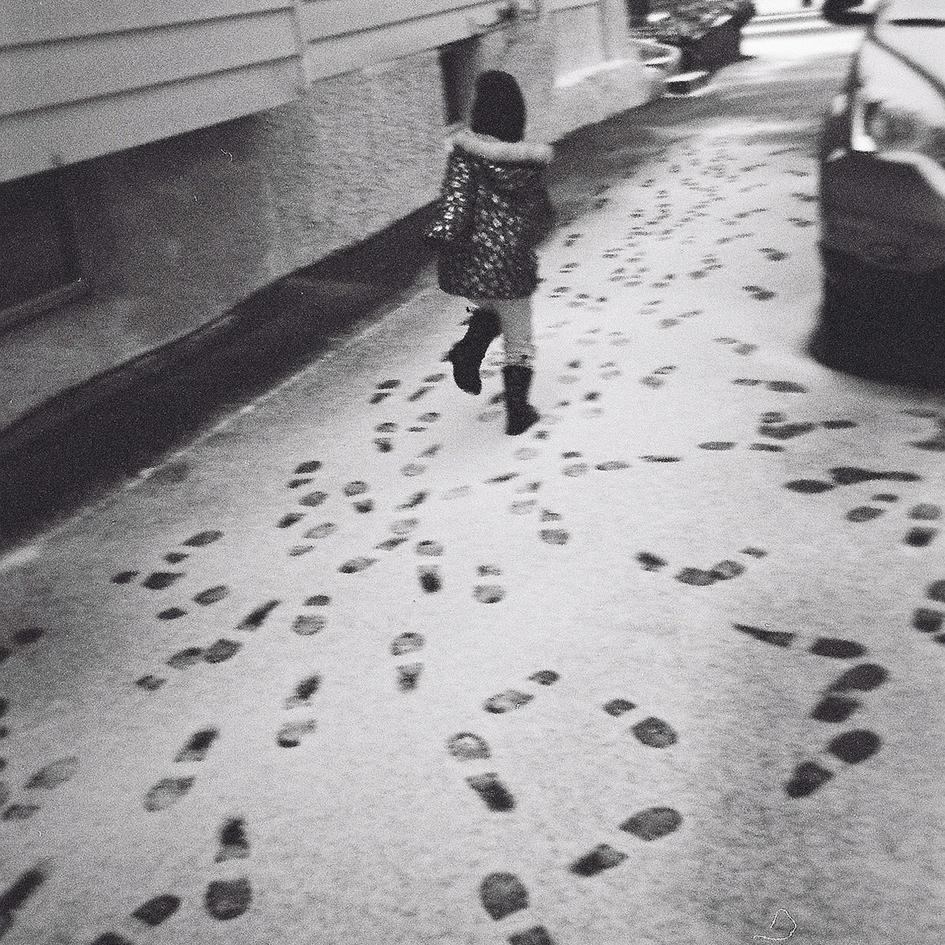 Running footprints