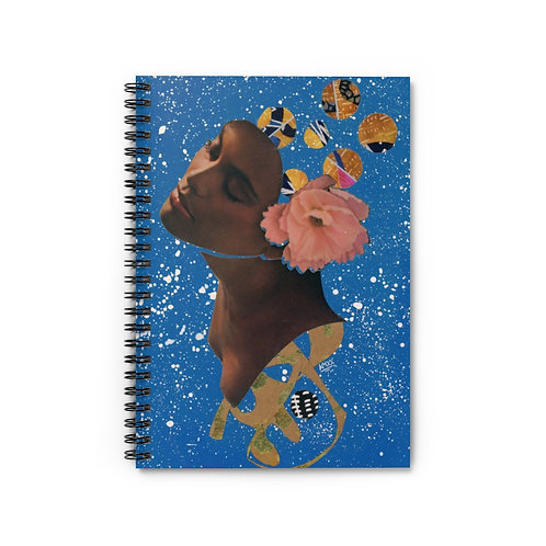 Ebony Luna Spiral Notebook -  Lined