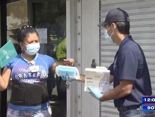 City of Miami Mayor Francis Suarez distributes NATEEN masks to Allapattah businesses