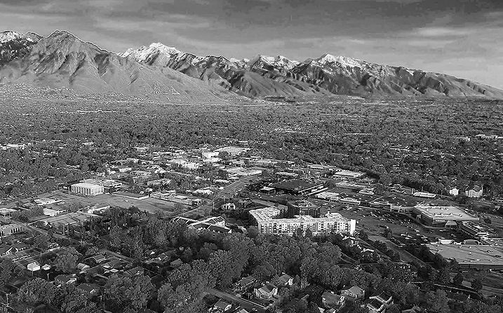 Aireal image of the Salt Lake Valley. View to the South East, over the City of Millcreek