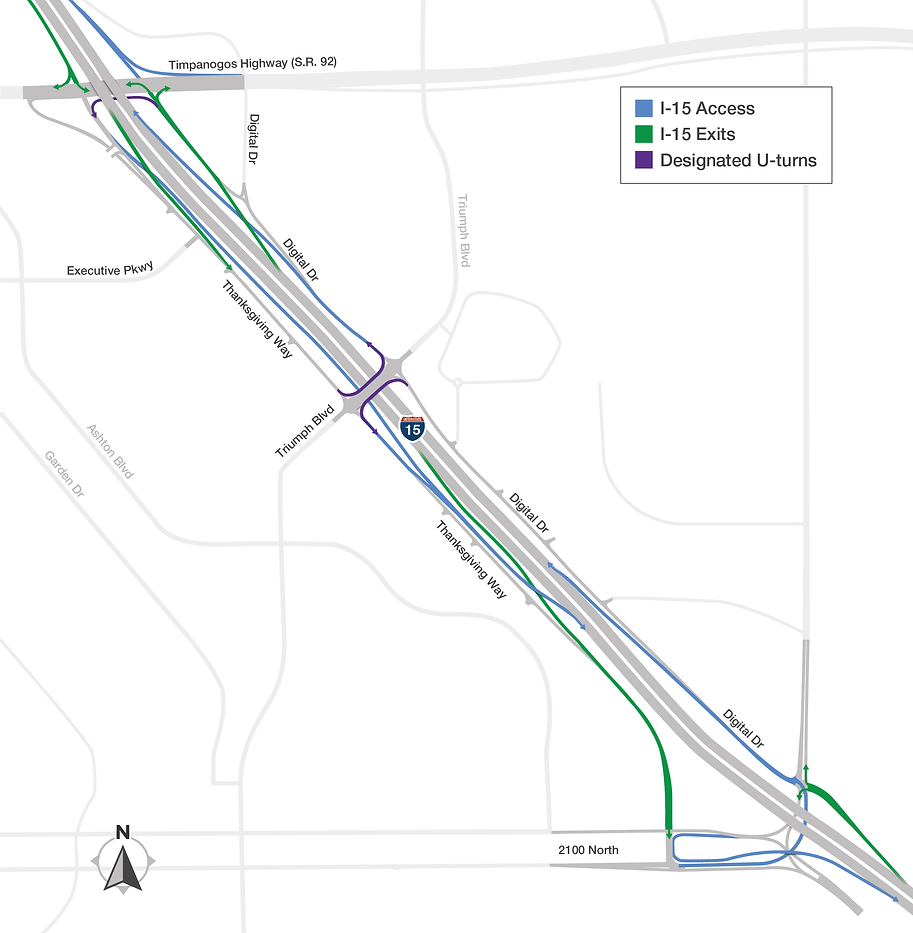 Access to and from I-15 final configuration map