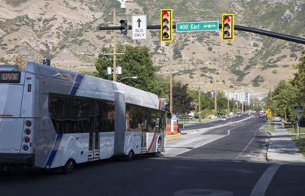 Example of a Bus Rapid Transit near 400 East in Provo Utah