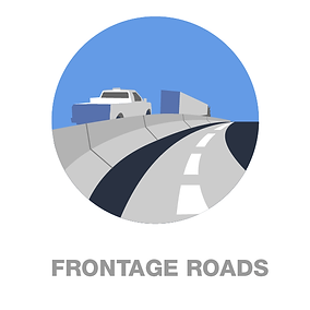 Link to Frontage roads Final configuration