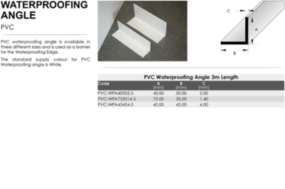 PVC Waterproofing Angle