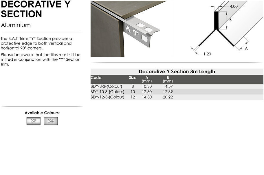 Decorative Y Angle