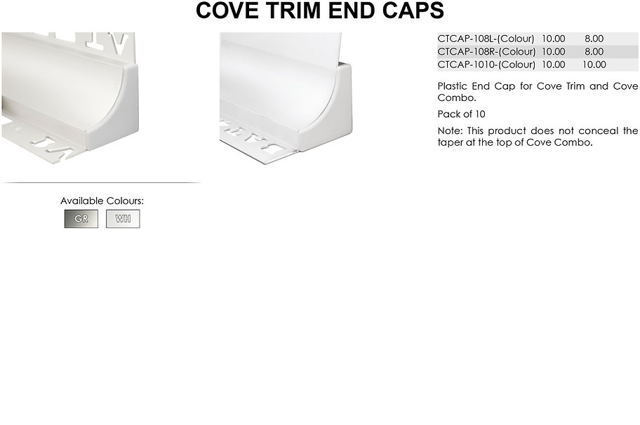 Cove Trim End Caps