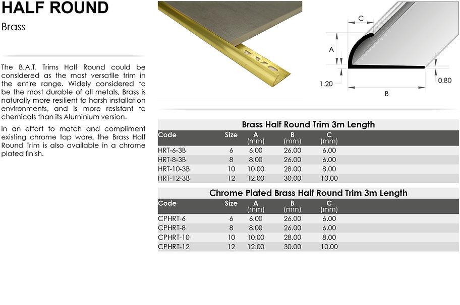 Brass Half Round Trim
