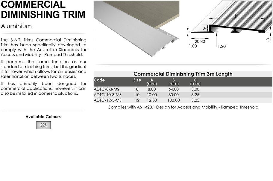 Commercial Diminishing Trim